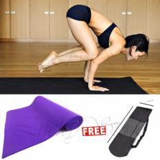 Lucky 1Pcs Matras Yoga / Yoga Mat 61x173cm - Ungu + Gratis Tas Yoga - 1 Pcs