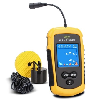 LUCKY FFC1108-1 100m Portable HD Fish Finder w/ White LED Backlight- intl