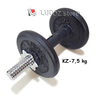 LUDOZ Dumbbell set KZ-7.5kg Stick dumbell KETTLER Rubberized dgPlat Beban Barbell Hi-