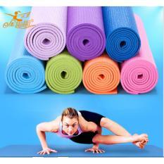 matras yoga flex fit 6mm + BAG /Matras Senam kwalitas bagus (BIRU MUDA)