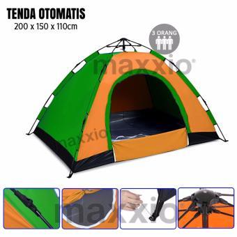 Maxxio Tenda Camping Otomatis 3 Orang Ukuran 200cm x 150cm