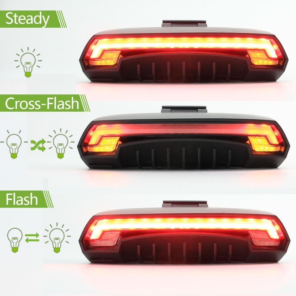 Meilan lampu sepeda pintar X5 Wireless Remote lampu belakang seindengan sinar Laser USB dibebankan - International