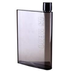 MemoBottle A5 Letter 420ml Botol Minum Memo Bottle Tipis Slim Botol Thermos Air dingin bentuk buku - Black