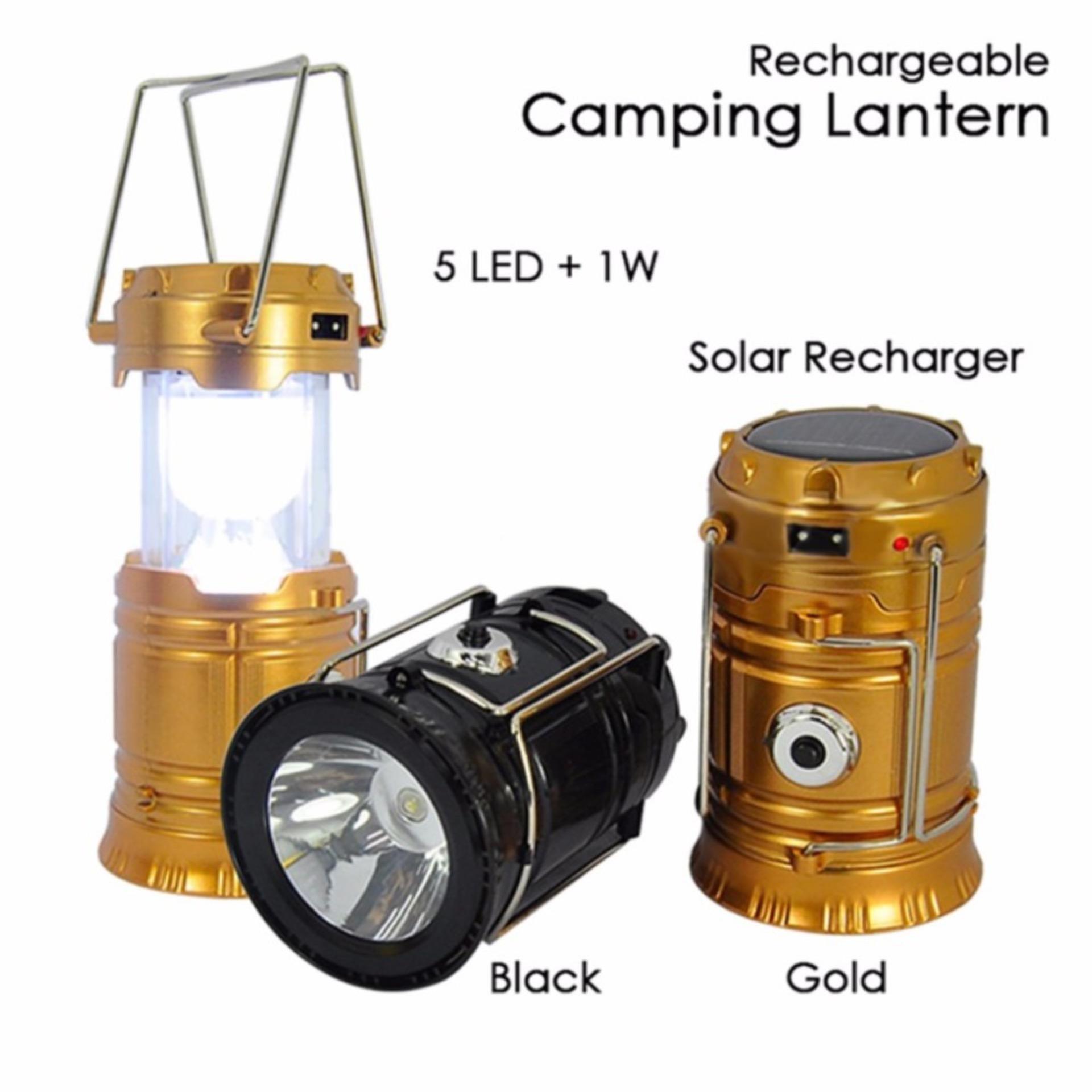 Mini Lampu Lentera Senter Emergency LED Solar Rechargeable .