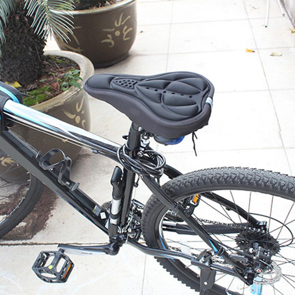 Bersepeda Sepeda Silikon Comfort Penutup Sadel Model Alur Saddle Silicone Mat Seat Cover Empuk Sj0037 Mtb Jalan Pad Bantal Lembut Hitam