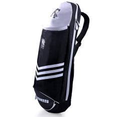 Multifungsi Tahan Air Tas Bulutangkis Tenis Olahraga Tas Ransel 3 Bulutangkis (hitam)-International