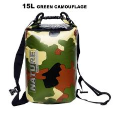 Nature Drybag Waterproof Dry Bag Nature 15 Liter Army Edition Green Camouflage Double .
