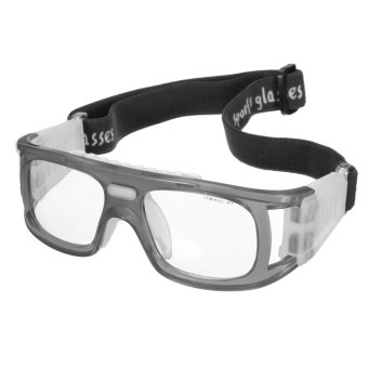 Olahraga Sepak Bola Basket Kacamata Pelindung Mata Kacamata Pengaman  Pelindung Elastis Abu-Abu 870ab1f6b4