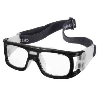 Olahraga Sepak Bola Basket Kacamata Pelindung Mata Kacamata Pengaman Pelindung Elastis Hitam