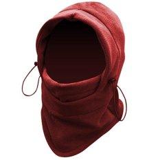 Ormano Masker Motor Ninja Buff Balaclava Polar 6in1 Multifungsi Masker Full Face Bahan Tebal - Merah