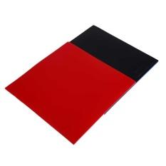 Outdoor 2 Pcs Raket Tenis Meja Pips Di PingPong Raquette Karet   Sponge Red/Black