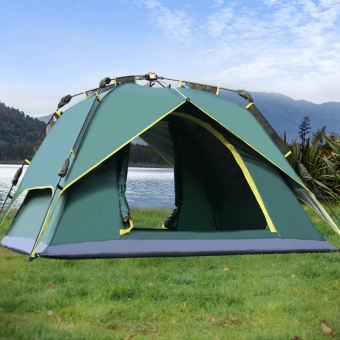 Harga Outdoor Tent 3-4 Person Camping&Hiking Tents With CarryBag(Army Green)