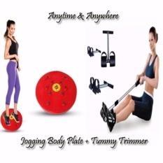 Paket Alat Fitnes Tummy Trimmer & Nikita Jogging Magnetic Trimmer Body Plate