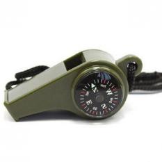 Peluit Kompas Thermometer 3 in1 - Black