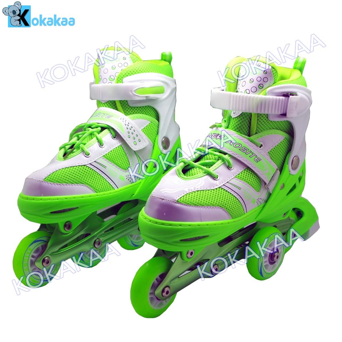 Power Sport Two Stripes 5000 Aosite Inline Skate Sepatu Roda 2 In 1 ... 6b5c3a907e