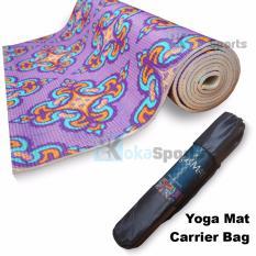 Power SportAnti-Slip Tech 6mm Yoga Mat Motif Ungu-Orange extra Carrying Bag