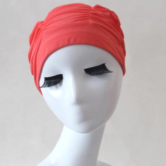 Jual Pria dan wanita anti keren lipit topi renang topi renang pelindung telinga topi renang topi renang Terpercaya