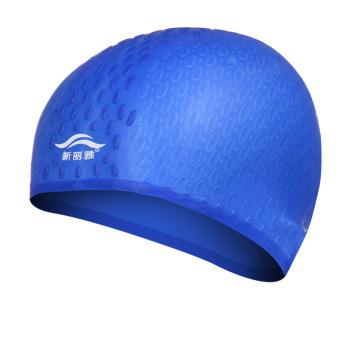 Pria Dan Wanita Dengan Rambut Panjang Tahan Air Silikon Berenang Topi Renang Topi
