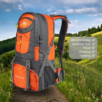 Pria wanita 50 liter kapasitas besar olahraga luar ruangan gunung tas ransel Trekking perjalanan Hiking - Internasional