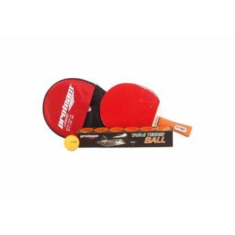 Proteam banded bat tennis meja plus bola tennis meja