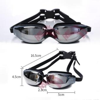 Rainbow Kacamata Renang Dewasa Swimming Goggles Kaca Mata MirrorAnti Fog UV Shield / Swimmming Glasses Swimming