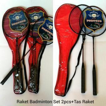 Raket Badminton Set 2 Pcs Dilengkapi Tas Raket - Set Racket Bulutangkis 2pcs Disertai Tas Racket - 2