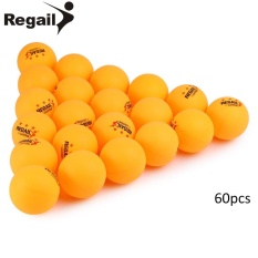 REGAIL 60 Counts 3-Star Practice Table Tennis Ping Pong Ball For Advanced Training (Yellow) - intl