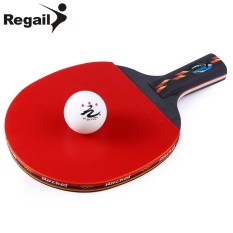 REGAIL D003 Table Tennis Ping Pong Racket One Short Handle Paddle Bat with Ball - intl