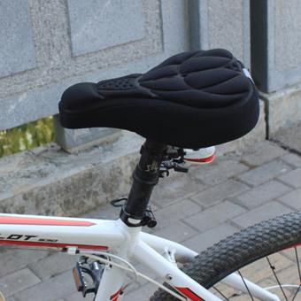 Rorychen 3D Sadel Sepeda Penutup Kursi (Hitam)