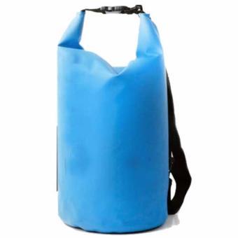 Jual Safebag Outdoor Drifting Waterproof Bucket Dry Bag 15 Liter Tas Anti Air Water Proof Perlengkapan Olahraga Camping Rekreasi Travelling Hiking Sling Selempang Bahan Parasut Tidak Tembus Air Daya Tampung Banyak Luas Dapat Dilipat Safety - Biru Murah
