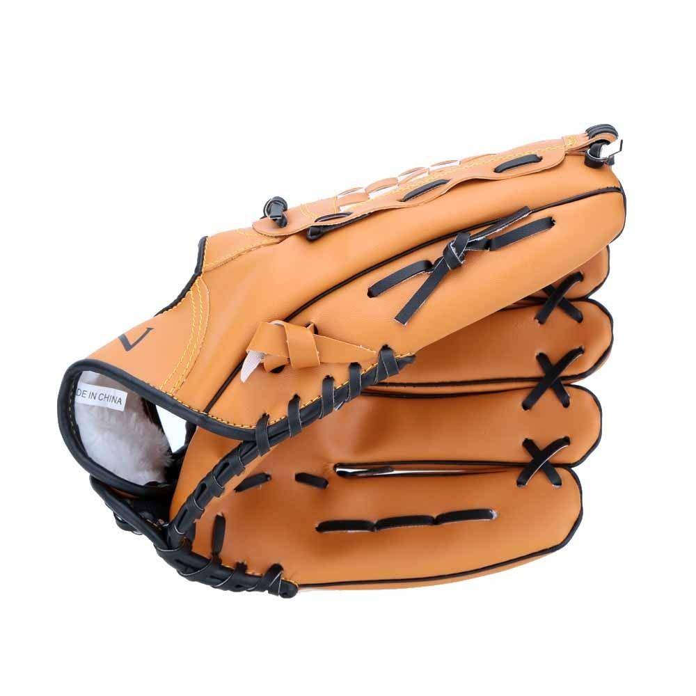 Sarung tangan olahraga baseball dan softball berwarna cokelat sebelah kiri berukuran 10.5/