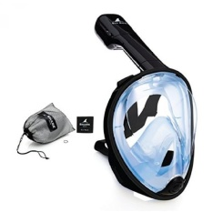 SeaFin Mask Full Face Snorkel Mask Technology. Tubeless Design.Anti-Fogging. Anti-Leaking. Adult and Youth Sizing. - intl