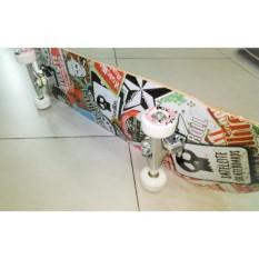 Silverfox Skateboard 100% Canadian Maple Sat. Skull