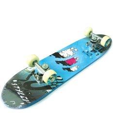 Silverfox Skateboard 24X6 3Small Aliens on Blue LY-2406AA-Y31-78