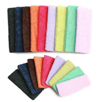 REVIEW Sports Bandeau Toweling Hair Band Headband TERMURAH