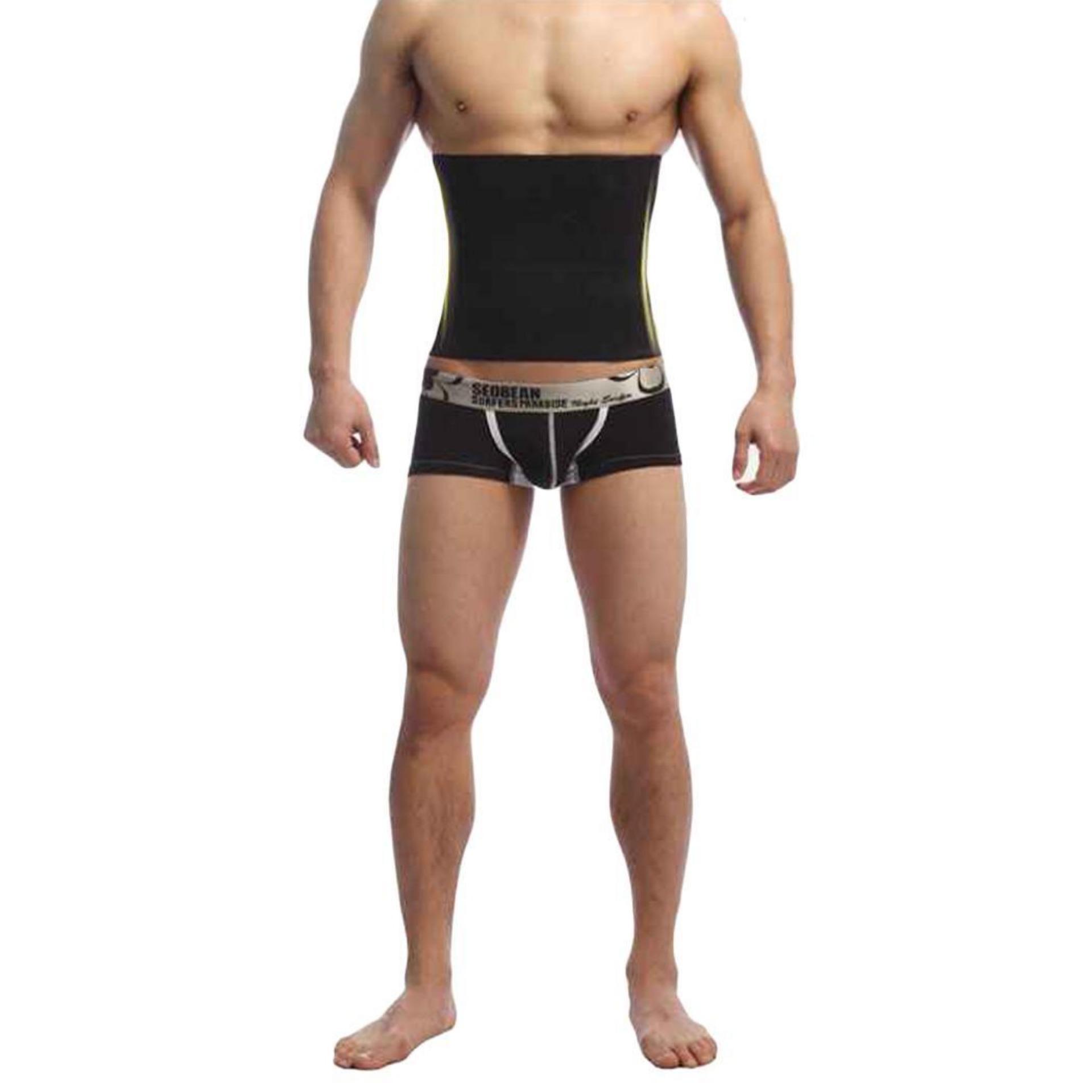 Sunwonder sabuk pelangsing perut korset pria gemuk perut korsetCincher pembentuk tubuh (hitam) - International ...