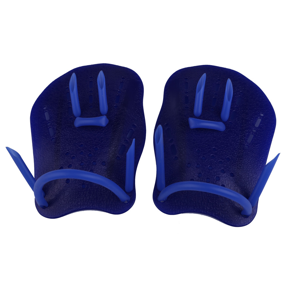 ... Swimming Webbed Gloves Frog Finger Fin Paddle Diving Palm Hand Wear Blue S ...