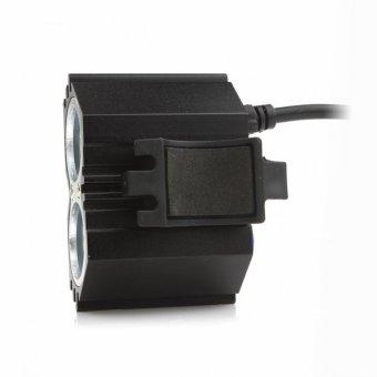 ... tahan air 5000 LM X 2 CREE XM - L T6 dipimpin Sepeda USB Head Lamp