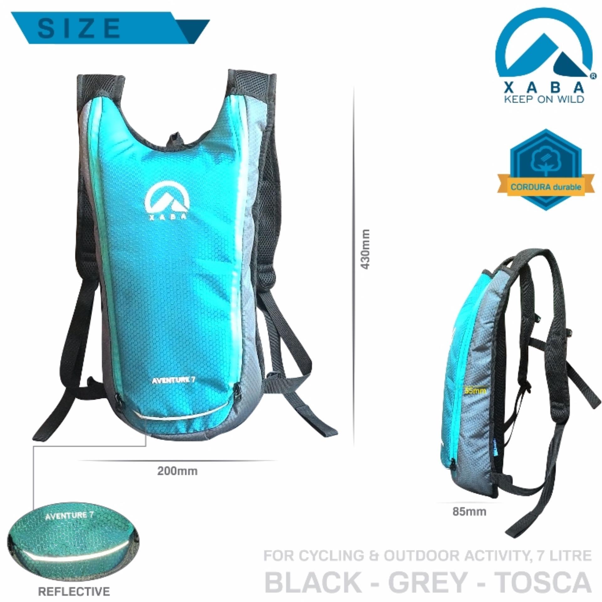 Tas Hydropack Ransel Sepeda XABA Outdoor - Aventure 7 Litre - Tosca .