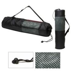 Tas Sarung Matras Yoga Jaring Yogamat Bag Meshbag Carrier - Black