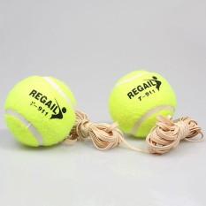 Tennis Training Ball With Elastic Rope Beginners Trainer Single Train Tool - intl