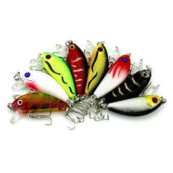 Topwater Mini Hard Minnows ABS Plastic Sea Fishing Lures Bait Hooks3.6G 5CM - intl