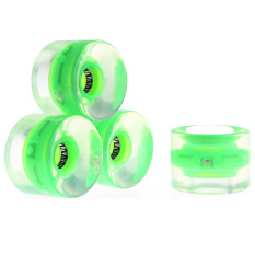 Transparent Skateboard Wheels 4pcs 60 x 45mm with ABEC-7 Bearings(Green) - intl