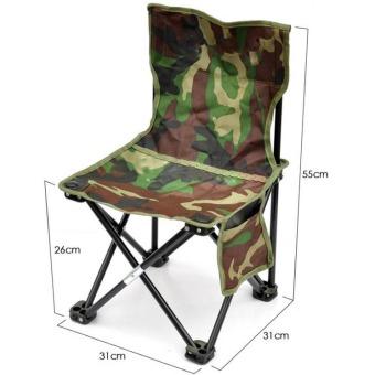 Universal Kursi Lipat Kotak Desain Army - Army Green .
