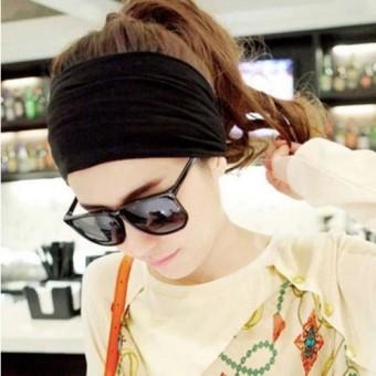 HEMAT Versi Korea dari olahraga dan kebugaran bertepi lebar ikat kepala yoga karet rambut TERPOPULER