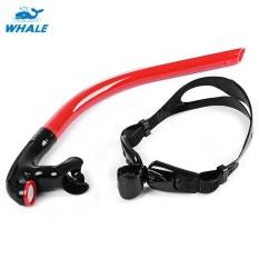 Whale Swimming Pusat Tabung Snorkel untuk Menyelam (Merah)-Intl