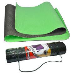 Winmax Matras Yoga TPE 6MM - Hijau / Matras Yoga Berkualitas / Matras Yoga Anti Slip / Yoga mat TPE