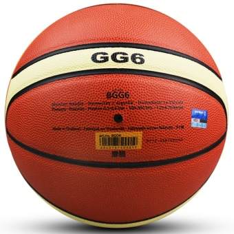 Women Basketball Genuine Molten GG6 Basketball Ball PU MateriaOfficial Size6 Basketball Free with Net Bag+ Needle+Pump - intl - 5