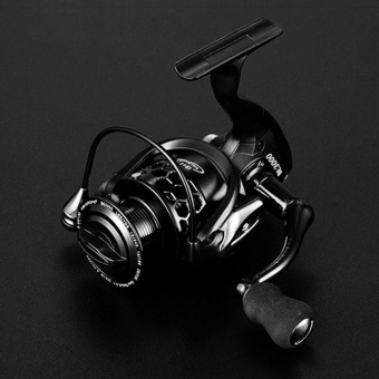 WOND 12+1 Ball Bearings Spinning Fishing Reel CNC Aluminium Spool Spinning Reels black - intl