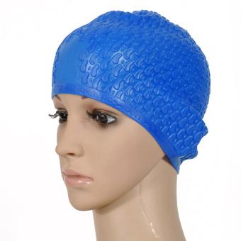 HEMAT Xia Yan Shishang wanita dengan rambut panjang tahan air topi renang topi renang TERMURAH